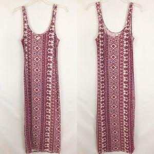 Billabong Boho Sleeveless Maxi Dress Sz Medium